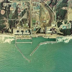 Luftaufnahme der Anlage Fukushima 1975