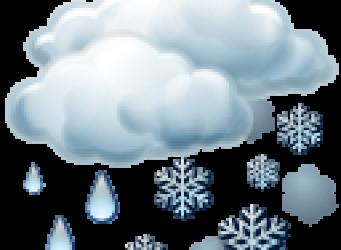 Schnee Regen