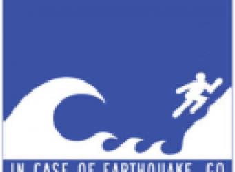 Tsunami Hinweisschild