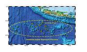 Eine Karte der Christmas Island Seamount Provinz. In gelb sind Arbeitsstationen der Expediton von 2008 eingezeichnet. Grafik: IFM-GEOMAR