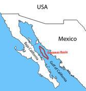 Hier wurden die Proben genommen. Das Guaymas-Becken an der Westküste von Mexiko. Rita Dunker, MPI Bremen