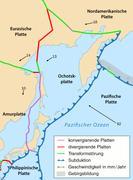 Die Lage der Erdplatten vor Japan Graphik: MARUM, Universität Bremen