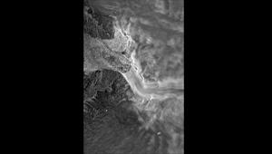 TerraSAR-X-Radaraufnahme des Jakobshavn Isbrae Quelle: DLR