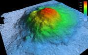 Bathymetrische Abbildung des Madiba Seamounts Grafik: Jan Erik Arndt / Alfred-Wegener-Institut