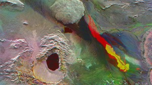 Ausbreitung der Lava auf dem Holuhraun-Feld Quelle: DLR
