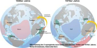 Klimawandel: Trockenzonen durch Verlagerung der Tropen